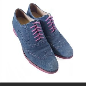 Cole Haan LunarGrand Wingtip Oxford Shoes Navy 8